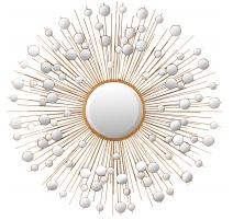 Espejo Sol se refleja en los dorados de hierro calado