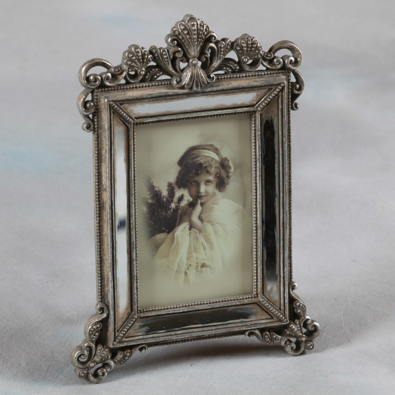 Cadre photo en miroir vieilli, petit