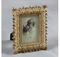 "Photo frame with ""acanthus Leaves"" golden, small"