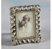 "Photo frame ""Twist"" silver-plated, large"