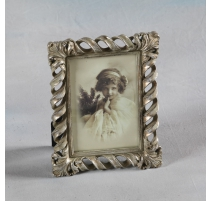 "Photo frame ""Twist"" silver, small"