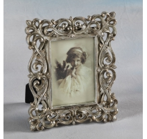 "Photo frame ""Interlaced"" silver-plated, large"