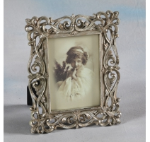 "Photo frame ""Interlaced"" silver, small"