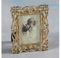 "Photo frame ""Interlaced"" golden, grand"
