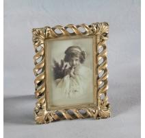 """Marco de la foto de """"Twist"""" de oro, pequeño"""