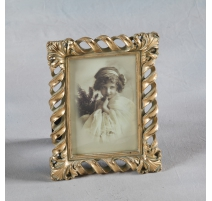 "Photo frame ""Twist"" golden, small"