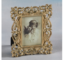 "Photo frame ""Interlaced"" golden, small"