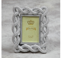 "Photo frame ""braided Cord"" silver, small"