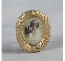 """Marco de imagen oval """"de la Corona de laureles de oro"""""""