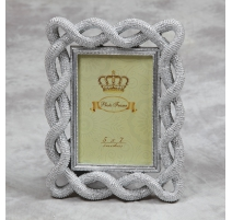"Photo frame ""braided Cord"" silver-plated, large"