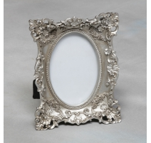 "Photo frame, interior oval ""Rose"", silver"
