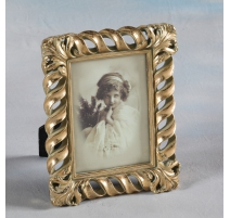"Photo frame ""Twist"" gilded, large"