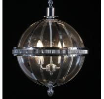La suspensión de la bola de cromo 4 luces