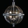 Suspension boule chromée à 4 lumières