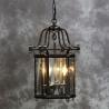 Lanterne hexagonale en métal noir et chromé