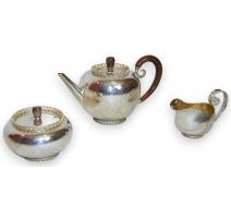 Service à thé en argent 925 par BOSSARD