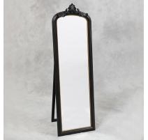 Spiegel im stil Napoleon III zu stellen, in schwarz-und goldtönen