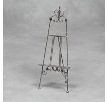 Petit chevalet de table en métal argenté