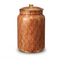 "Grand pot avec couvercle ""Ashanti"" Fortuny"