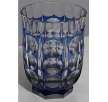 Glasvase bohemia crystal blau