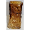Vase glaçon en verre brun, signé BLOMQVIST