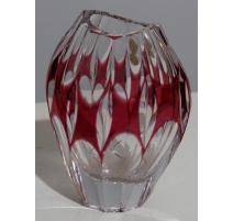 Jarrón oval de cristal rojo por NACHTMANN
