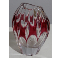 Vase oval red crystal by NACHTMANN