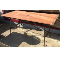 Wrought iron Table with plate in ceramic