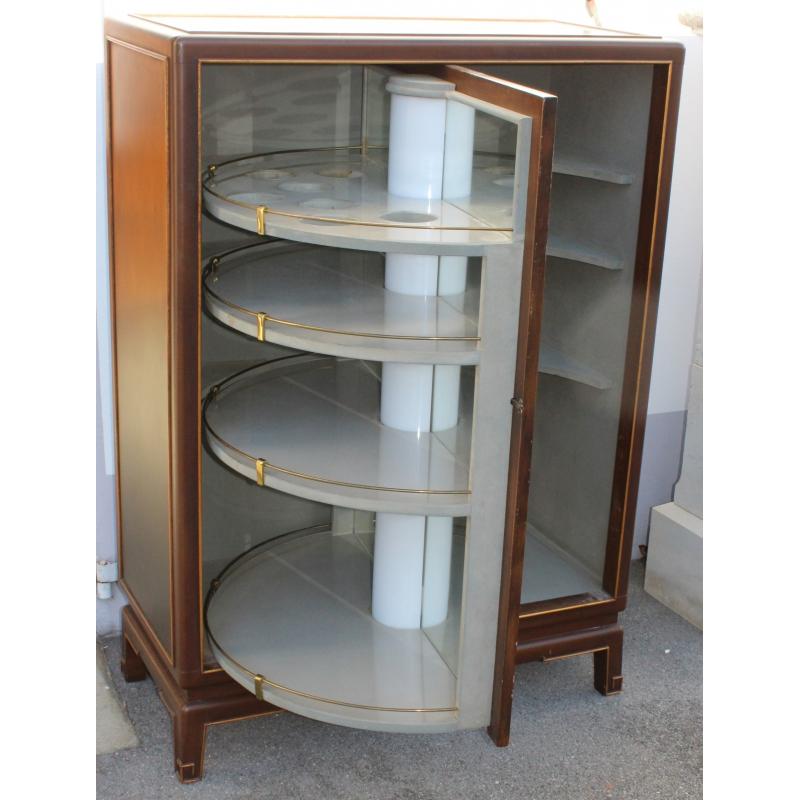 meuble bar en laque de chine porte pivotante sur moinat sa antiquit s d coration. Black Bedroom Furniture Sets. Home Design Ideas