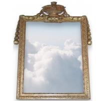 Miroir Louis XVI, fronton cassolette.