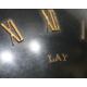 "Pendule en bronze ""Atlas"" signée LAY Paris"