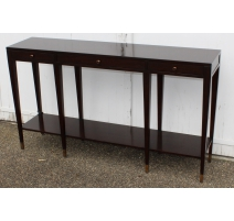 "Console ""The Moda Nuovo"" in mahogany and brass"