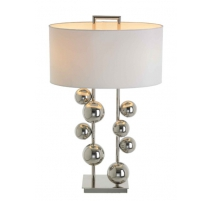 "Lampe en nickel ""Aero"" avec boules"