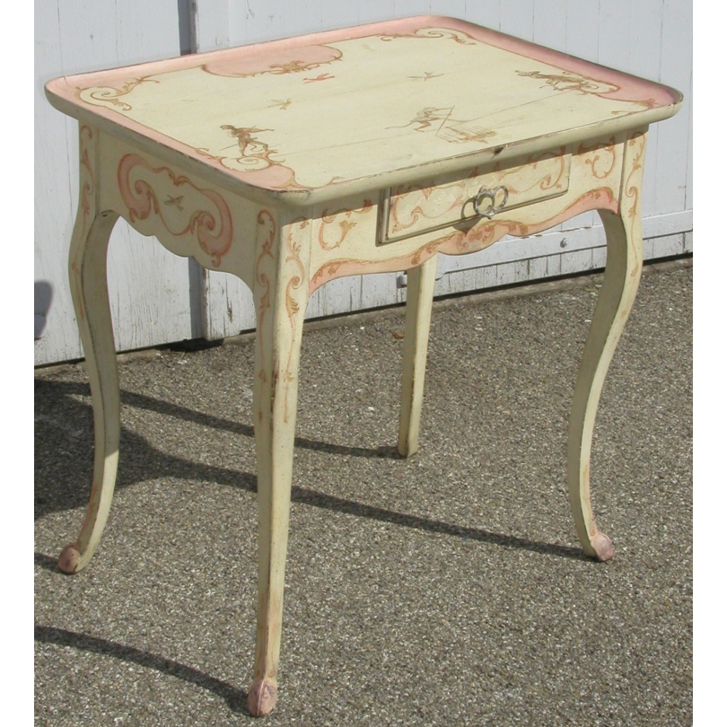 Louis Xv Small Table Painted W Moinat Sa Antiquites Decoration