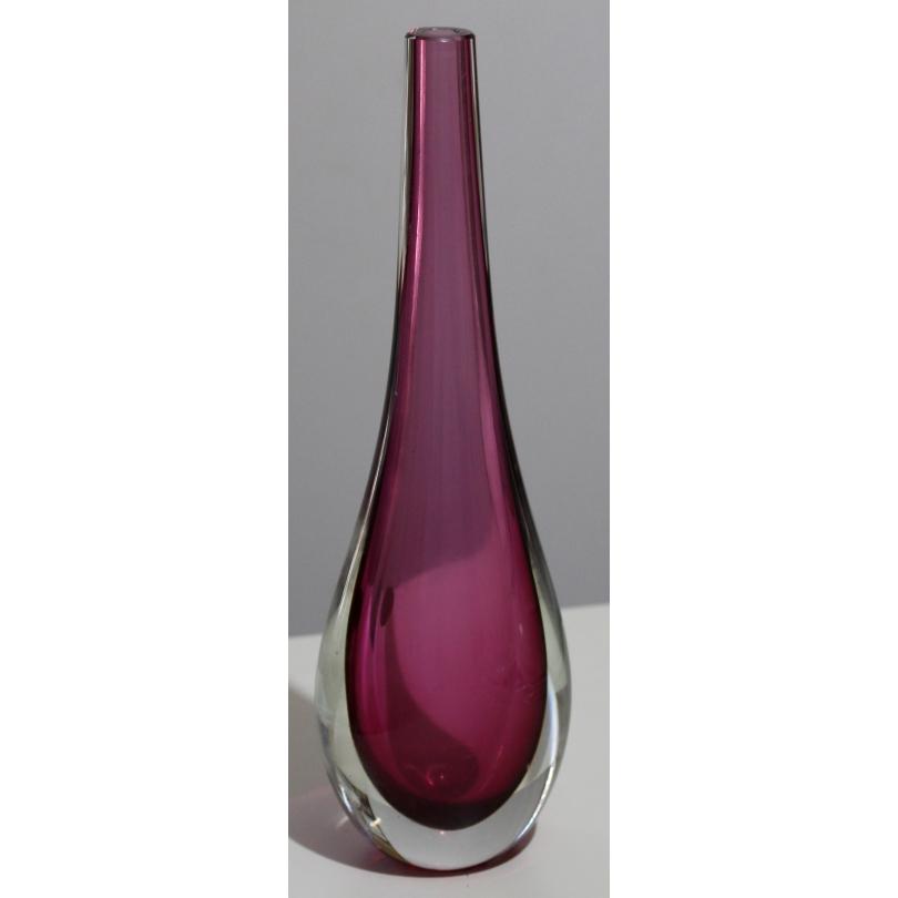 Vase en verre de Murano rose