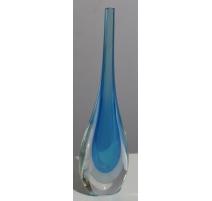 Vase en verre de Murano bleu
