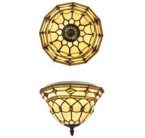 La iluminación de techo Tiffany estilo, formas geométricas