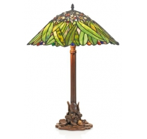 Lampe style Tiffany, décor feuilles