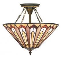 Suspension style Tiffany, formes géométriques