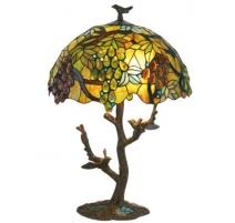 Lampe style Tiffany, raisins