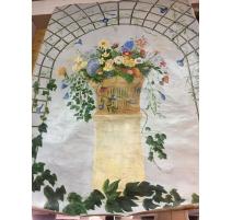"""Panneau décoratif """"Panier de fruits et de fleurs"""""""