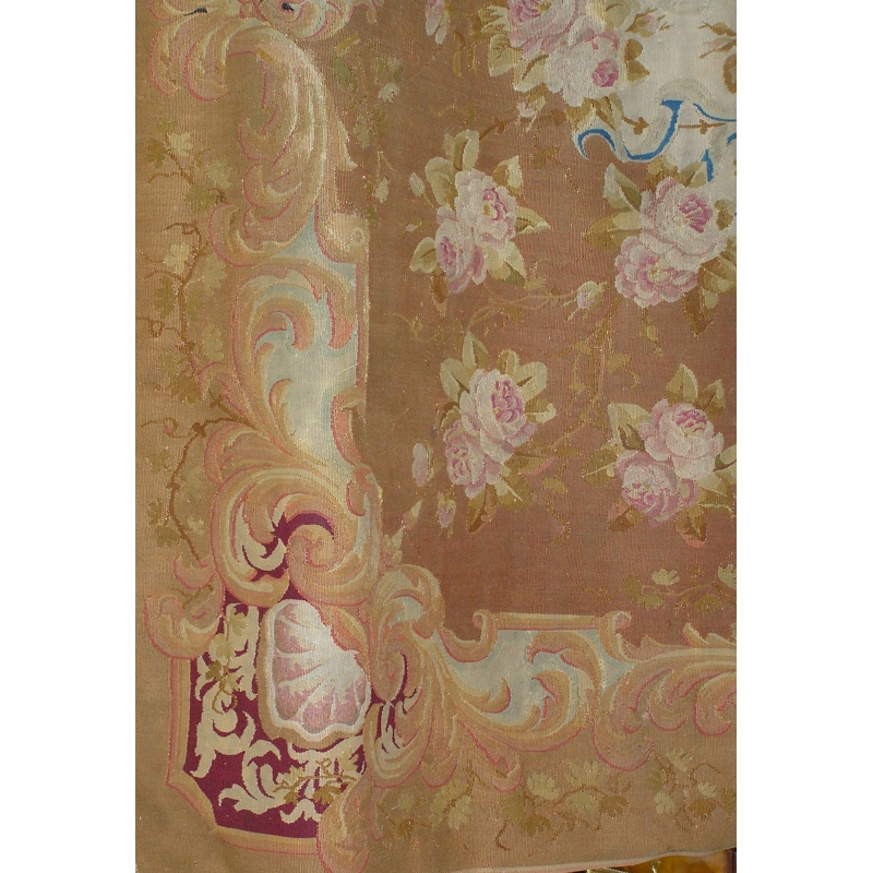 tapis aubusson motifs de fleurs moinat sa antiquit s d coration. Black Bedroom Furniture Sets. Home Design Ideas