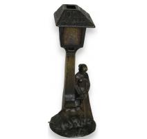 Lampe 1900  Chèvre et Femme .