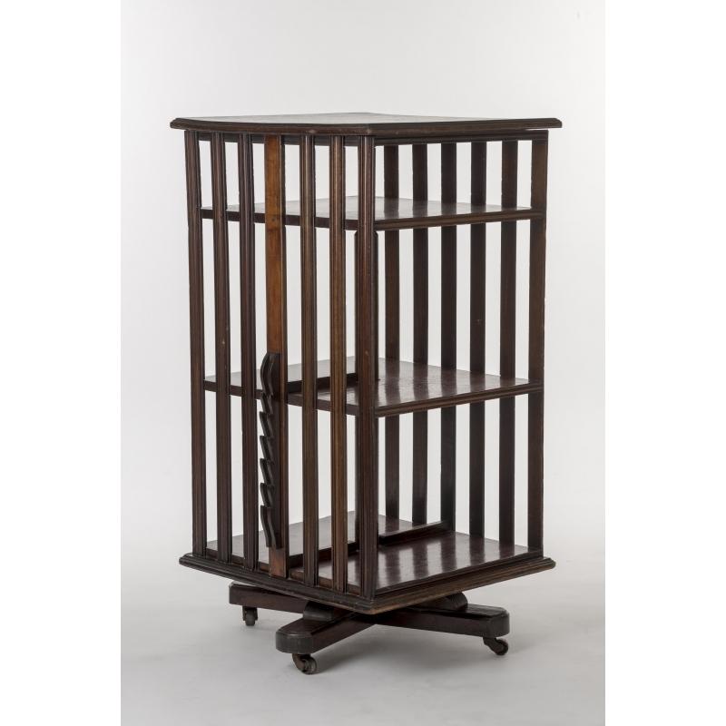 biblioth que tournante anglaise en acajou sur moinat sa antiquit s d coration. Black Bedroom Furniture Sets. Home Design Ideas