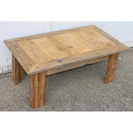 Table basse en vieux bois avec plateau ouvrant - Moinat SA ...