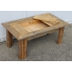Table basse en vieux bois avec plateau ouvrant