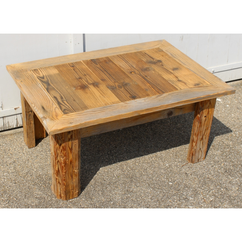 Table basse en vieux bois avec plateau ouvrant sur moinat sa antiquit s d coration - Table basse vieux bois ...