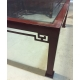 "Table basse ""Japon"" en fer rouge"