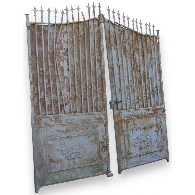 Portail deux vantaux sur moinat sa antiquit s d coration - Portail a vantaux ...