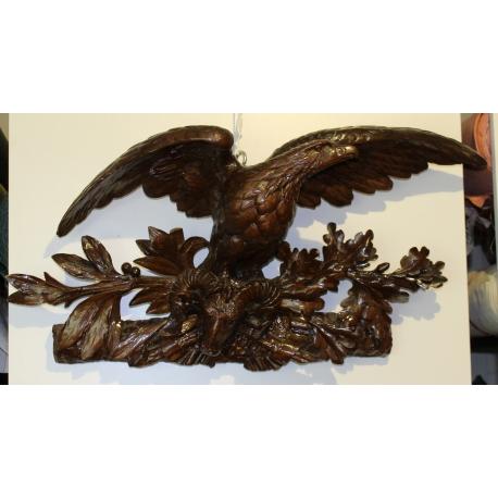 dessus de porte sculpt aigle et mouflon sur moinat sa antiquit s d coration. Black Bedroom Furniture Sets. Home Design Ideas